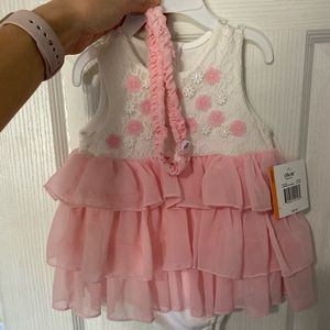 Baby pink ruffle dress